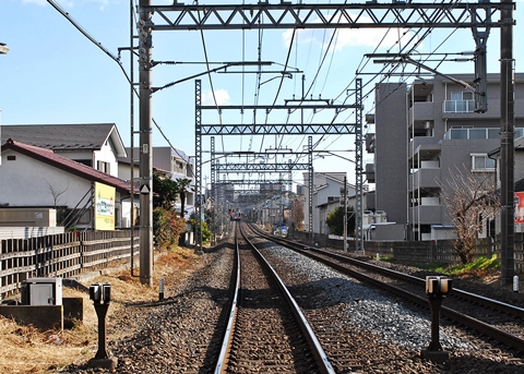 ふじみ野駅近くの線路