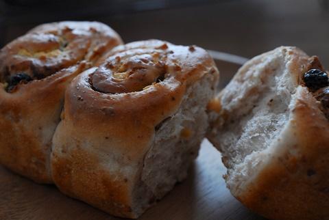 写真ワークショップのブルーベリーパン