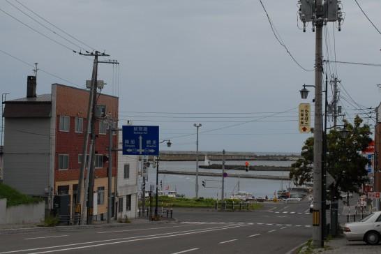 紋別港曇り