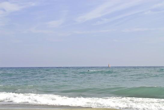 鎌倉高校前の海辺