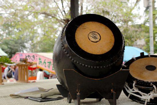 能舞台の太鼓