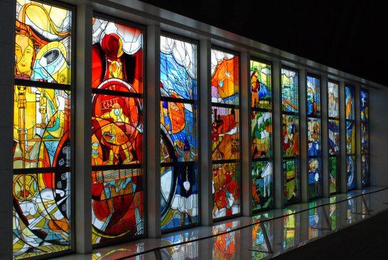 鉄道博物館ステンドグラス